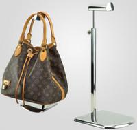 ücretsiz taban çantası toptan satış-5 adet Ücretsiz kargo büyük taban paslanmaz çelik metal kadın çantası braketi vitrin Kravat / peruk / çanta / çanta ekran standı tutucu