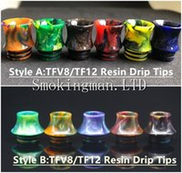 Wholesale free baby packages for sale - Group buy DHL Free Thread TFV8 TFV12 Drip Tips Cone Shape Resin Mouthpiece for TFV8 TFV12 TFV8 Big Baby Tank Kennedy RDA With Retail Package