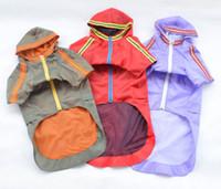 Wholesale Large Dog Raincoats - Solid Large Dog Nylon Waterproof Raincoat With Hat Accessory Three Colors Wholesale 50Pcs Lot Drop Shipping Free Shipping