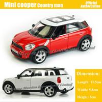 mini brinquedo carro coleção venda por atacado-1:36 Scale Diecast Liga Modelo De Carro De Metal Para MINI Cooper S Countryman Coleção Modelo Pull Back Toys Car - Vermelho / Branco / Preto / Azul