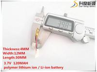ionensprecher für großhandel-Heißer Verkauf 10pcs [SD] 3.7V 120mAH 401230 Polymer-Lithium-Ionen- / Li-Ion-Akku für SPIELZEUG, POWER BANK, GPS, MP3, mp4, Handy, Lautsprecher