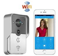 Wholesale Wireless Outdoor Intercom System - 100% Brand Wireless Wifi Video Door Phone Doorbell Camera Intercom Phone Control IP Video Door Phone System