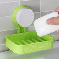 Wholesale Perfect Shower - Strong Soap Dish Holder Suction Cup Wall Tray Holder Soap Storage Box For Bathroom Shower Tool Perfect Home Decoration