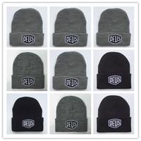Wholesale Hiphop Hats Girls - Wholesale Brand New! Deus Ex Machina Baylands Trucker Beanie hat Men Women Bboy Girls Sports Winter 6 Hiphop God yeezus Cap Black