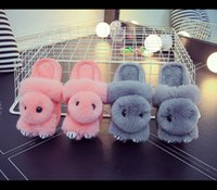 Wholesale Animals Slipper For Kids - Rabbit family home Korean version of the package with cute children 's cotton slippers for kids adult