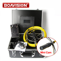 "Wholesale Glass Fiber Cable - Mini Size Pipe Sewer Waterproof Video Camera With DVR Recording 7"" LCD Screen Inspection Camera 20M 30M40M 50M Fiber Glass Cable"