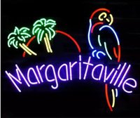NOVO Margaritaville Parro Glass Neon Sign Light Bar de cerveja Pub Sign Artes Crafts Gifts Sign 19