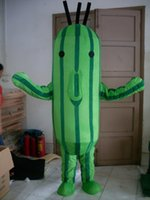 Wholesale Cucumber Mascot Make - SM0429 a plant costume cucumber mascot costume with small eyes for adult to wear for sale