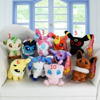 Wholesale mew poke - Poke plush toys 10 styles Mew Umbreon Eevee Espeon Jolteon Vaporeon Flareon Glaceon Leafeon sylveon Animals Soft Stuffed Dolls toy