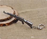 bprice-bprice prices - AK47 Model Keychain Cross Fire CF Metal Pendant Key Chain Automatic Rifle ak 47 Gun Figure Jewelry Men Toy Accessories Keyring 01601