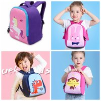 Wholesale Boys Dinosaur Suit - Baby Girls Boys Unicorn rabbit Dinosaur Backpack for 3-6T kids Diving suit fabric big capacity cute backpack schoolbag KKA2882