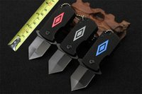 Mini Keychain Couteau Daily Need Hand Tool 3Cr13 56HRC Lame Aluminium Handle Folding Pocket Knives Factory Prix de gros B589L