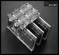 Wholesale Graphics Cooler - Wholesale- Bykski VGA-SLI&CF-SQUALL multi-Graphics Card SLI   CF module Water Cooling- channel design.