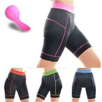Wholesale New Women summer Cycling Clothing Bike Bicycle D Silicone Padded riding Shorts Pants S XL Breathable