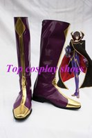 Wholesale Cosplay Geass - Wholesale-Freeshipping custom-made anime Code Geass Lelouch of the Rebellion Zero Cosplay Shoes boots for Halloween Christmas festival