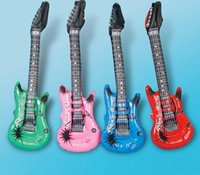 Wholesale Inflatable Guitars For Kids - Inflatable Blow up Guitar For Kids Play Toy Party Props #33032