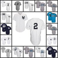 Wholesale Red Purple White - New York Yankees Jersey 2 Derek Jeter 24 Gary Sanchez 99 Aaron Judge 7 Mickey Mantle Babe Ruth 2017 All Star Baseball Jerseys