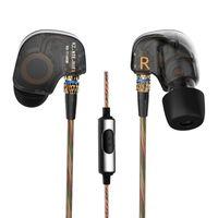 Wholesale Original Wireless Headphones - 2016 New Original KZ ATE Headphones 3.5mm in-ear Earphones HIFI Metal Stereo Earphones and Headphones Super Bass noise isolating