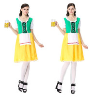Wholesale Promotion Themes - Halloween Germany ding-dong serve beer festival maid servant packed nightclubs beer promotion theme party costumes Maidservant Costume