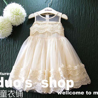 Wholesale Tulle Clothing Wholesale - Ruffle Tulle Dress Child Lace Dress Girl's Dresses 2018 Summer Dresses Princess Dresses Children Clothes Kids Clothing Lovekiss C24983