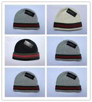 Wholesale Hockey Brand Hats - Cheap new Autumn Winter Unisex wool hats fashion casual brand skullies & Beanies For Men and women Striped design Free Shipping