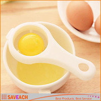 белый пластиковый держатель для яиц оптовых-Горячая кухня белое яйцо сепаратор просеивание гаджет пластиковый фильтр сито делитель держатель высокое качество бесплатная доставка