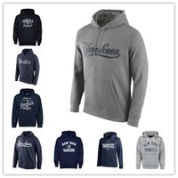 Wholesale Pink Mix Order - Free Shipping New York Yankees Logo Performance Pullover Hoodie - Navy Sweatshirts baseball Hoodie or costom any pictures Mix Order