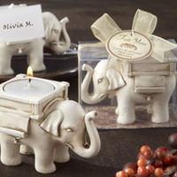 """Wholesale candle holder elephant - Wedding Favors """"Lucky Elephant"""" Tea Light Candle Holder Party favor gift"""