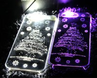 Flash LED Lightning Case Glow PC Hard Cover Para Iphone 5 / 5s 6 / 6s mais Case Back Cover Apple Series Pingos de chuva