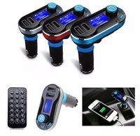 Wholesale Iphone 3in1 Kit - BT66 Dual USB Car MP3 Player FM Transmitter Modulator Car Kit 3in1 LCD TF Card Music Player Car Charger for iPod iPhone iPad MP3 MP4