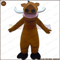 Wholesale Boar Mascot - Wild boar mascot costume EMS free shipping, cheap high quality carnival party Fancy plush walking Wild boar mascot cartoon adult size.