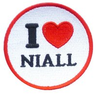 Wholesale I Heart One Direction - 1D HEART ONE DIRECTION I LOVE LIAM Music Band Iron On Sew On Patch Tshirt TRANSFER MOTIF APPLIQUE Rock Punk Badge Free shipping