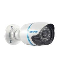 "Wholesale Outdoor Bullet Camera 6mm - ESCAM Q630M 1 4"" CMOS ONVIF 720P Mini 6mm lens 24leds IR Bullet Camera P2P included"