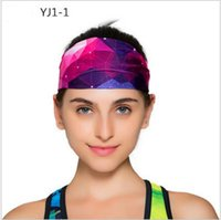 Wholesale Tennis Head Band - 2016 New Hair band fitness yoga printing head with elastic tennis men's and women's helmet Absorbent non-slip widen the hair band