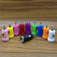Wholesale Usb Player Adapter - SH Mini USB Car Charger Universal Adapter for iphone 5 6 6S plus Cell Phone PDA MP3 MP4 player mobile i9500 S4 S5 S6 tablet pc B-CL