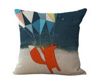 Wholesale Fox Decor - Best Friend Red Foxes Pillow Case Throw Cushion cover Pillowcase Cover linen cotton square pillow cases Home decor Christmas gift 240448