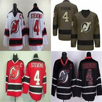Wholesale Devil Suits - Factory Outlet Cheap Mens New Jersey Devils 4 Scott Stevens 100% Stitched Embroidery Best Quality Hot Sale Ice Hockey Jerseys Suit S-XXXL