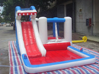 Wholesale Trampoline Jumping - 2017 Children's Inflatable Castle Outdoor Jumping Bed Household Naughty Fort Trampoline Toy Park With Air Blow
