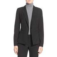 traje de smoking negro para damas al por mayor-Nuevas mujeres negras trajes de oficina trajes de oficina formales elegantes trajes de pantalón de las mujeres damas de invierno traje formal para mujer esmoquin personalizado