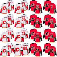Wholesale Ripped T - custom 2017-2018 season Calgary Flames 13 johnny gaudreau 27 Dougie Hamilton 7 T. J. Brodie 18 Matt Stajan Troy Brouwer Bennett jersey