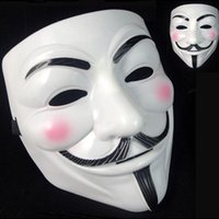 Wholesale Masquerade Masks For Guys - 500Pcs V Mask Masquerade Masks For Vendetta Anonymous Valentine Ball Party Decoration Full Face Halloween Super Scary Guy Fawkes