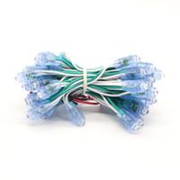 lider kanal modülleri toptan satış-Toptan Arka Işık Kanal Mektup LED Piksel Modülü Delikli Işık Exposed Işık Dize 9mm 0,1W DC5V Ücretsiz Kargo LED