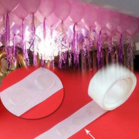 Wholesale Pvc Balloons - 2 Rolls Wedding Birthday Balloons Party Decorations,No Trace Adhesive Spots Balloons Accessories 2 roll=500 particles Toy Balloons