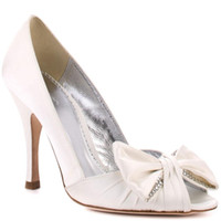 Wholesale Cheap Ballet Pumps - White Peep Toe Wedding Shoes Bridal Accessories 2015 Handmade Satin Slip-ons Chaussures Pour Femmes Chaussures Talon Women Cheap High Heel