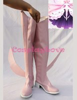 Wholesale Madoka Pink - Wholesale-Newest Custom Made Japanese Anime Puella Magi Madoka Magica Kaname Madoka The Finale Cosplay Shoes Long Boots For Halloween