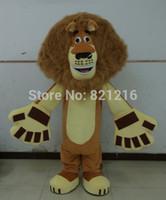 Wholesale Lion Mascot Costumes Adults - Wholesale-Hot sale Brand New brown lion Mascot Costume adult Fancy Dress Charactor school mascot costume