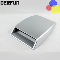 Wholesale hood air scoop - Car Air Flow Sticker Auto Styling Universal Decorative Intake Scoop Turbo Vent Cover Hood White Black Silver
