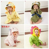 Wholesale Hooded Baby Bath Towels Wholesale - wholesale Baby animal towel Hooded kids bath towel Animal Modeling Swimming bathrobe Baby cartoon Pajamas A092127
