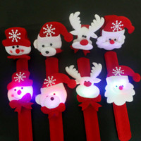 online shopping Pats Led - Christmas Decoration LED Light Clap Ring Pop Christmas Party Decor Ornament Snowman Santa Claus Children Hand Pat Gift Buckle Bracelet MC08