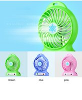 Wholesale Micro Thirds - Best gift emergency Portable electrical mini usb fan strong wind cute Rechargeable micro usb fan with led